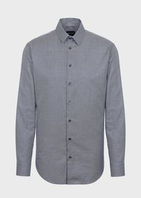 Armani Slim-fit shirt in an exclusive micro-patter