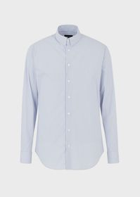 Armani Regular-fit shirt in exclusive striped fabr
