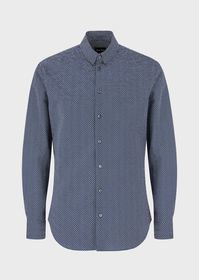 Armani Seersucker-patterned, regular-fit shirt