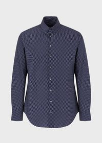 Armani Regular-fit shirt in exclusive, finely stri