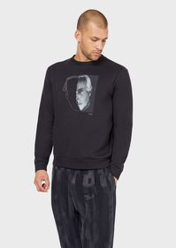 Armani Sweatshirt with photographic print and hand