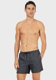 Armani Swimming trunks with logo pattern