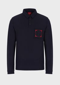 Armani Polo shirt in jersey featuring a pocket wit