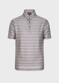 Armani Silk-and-cotton polo shirt with a patterned