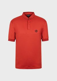 Armani Cotton interlock polo shirt with GA logo