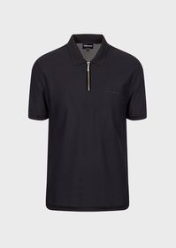 Armani Honeycomb stretch jersey polo shirt