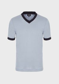 Armani T-shirt in viscose and silk jersey