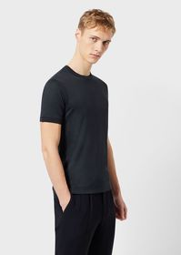Armani Mulberry silk and viscose T-shirt with cont