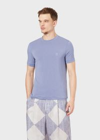 Armani Stretch viscose jersey T-shirt with GA embr