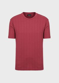 Armani T-shirt with vertical ribbing