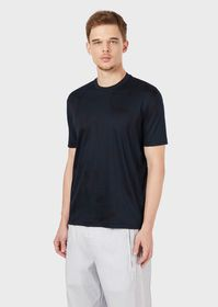 Armani Interlock T-shirt with lettering print