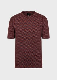 Armani T-shirt in fabric with jacquard design
