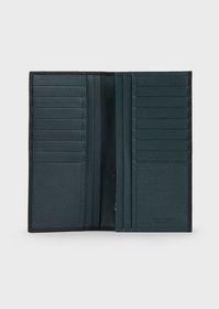 Armani Vertical wallet in grained calf-skin