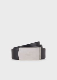 Armani Leather belt with two interchangeable buckl