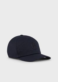 Armani Hat featuring denim visor with logo