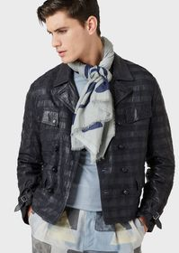 Armani Modal-and-silk stole with graphic motif