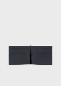 Armani Full-grain leather card holder with money c