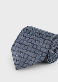 Armani Silk tie with all-over logo pattern