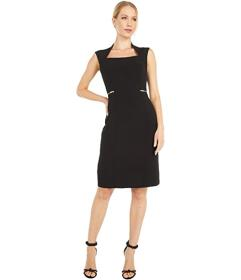 Tahari by ASL Career Dress with Zippers At Waist