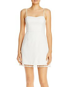 FRENCH CONNECTION - Pom Pom-Trim Mini Dress