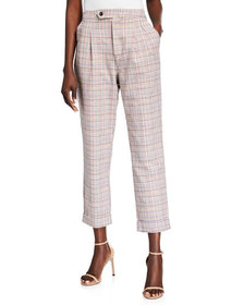 Lost + Wander Sweet Melody Plaid Ankle Pants