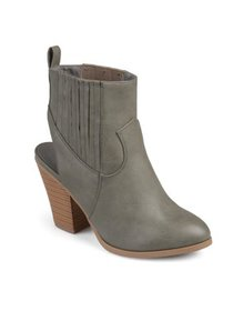 Brinley Co. Women's Faux Leather Stacked Wood Heel