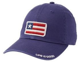 Life Is Good® Kids' Tattered Twill Patch Cap