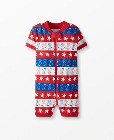 Hanna Andersson Peanuts 4th of July Shortie Sleepe
