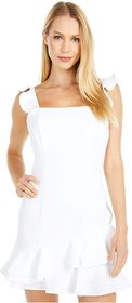BCBGeneration Cocktail Ruffle Fitted Mini Dress -