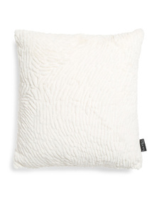 NICOLE MILLER 20x20 Fingerprint Faux Fur Pillow
