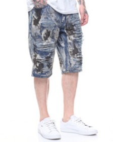 Buyers Picks oil stained distressed jean short