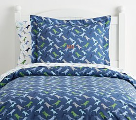Pottery Barn Organic Warren Dinosaur Duvet Cover