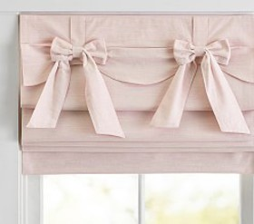 Pottery Barn Bow Valance Roman Shade