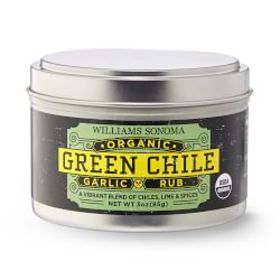 Williams Sonoma Organic Rub, Green Chile Garlic