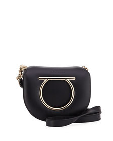 Salvatore Ferragamo Vela Small Leather Crossbody B