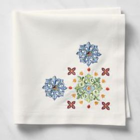 Sicily Embroidered Napkins, Set of 4