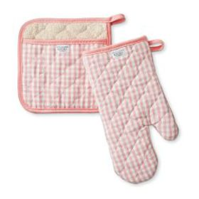 Chef Check Oven Mitt & Potholder Set