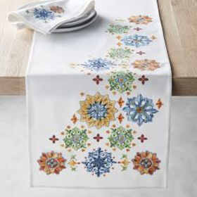 Sicily Embroidered Table Runner