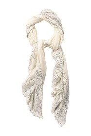 Tory Burch Psychedelic Geo Sequin Oblong Scarf