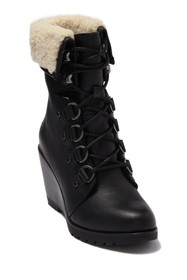 Sorel After Hours Lace-Up Genuine Shearling Cuff W