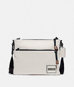 Coach pacer crossbody with coach patch