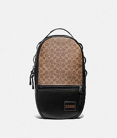 Coach pacer backpack in signature canvas with coac