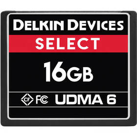 Delkin Devices 16GB SELECT UDMA 6 CompactFlash Mem