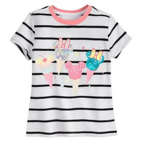 Disney Mickey and Minnie Mouse Sequin Ice Creams T