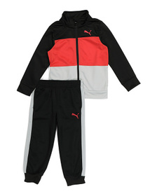 PUMA Little Boys 2pc Tricot Track Jacket And Pant