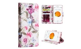 Insten Rose Aroma Leather Flip Stand Case For iPho