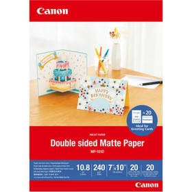 "Canon Double-Sided Matte Photo Paper (7 x 10"", 20"