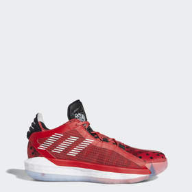 Adidas Basketball Red Dame 6 Shoes
