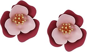 Vince Camuto Post Flower Clip Studs Earrings