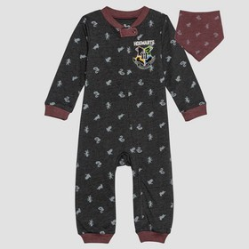 Baby Harry Potter 2pc Long Sleeve Romper and Bib S